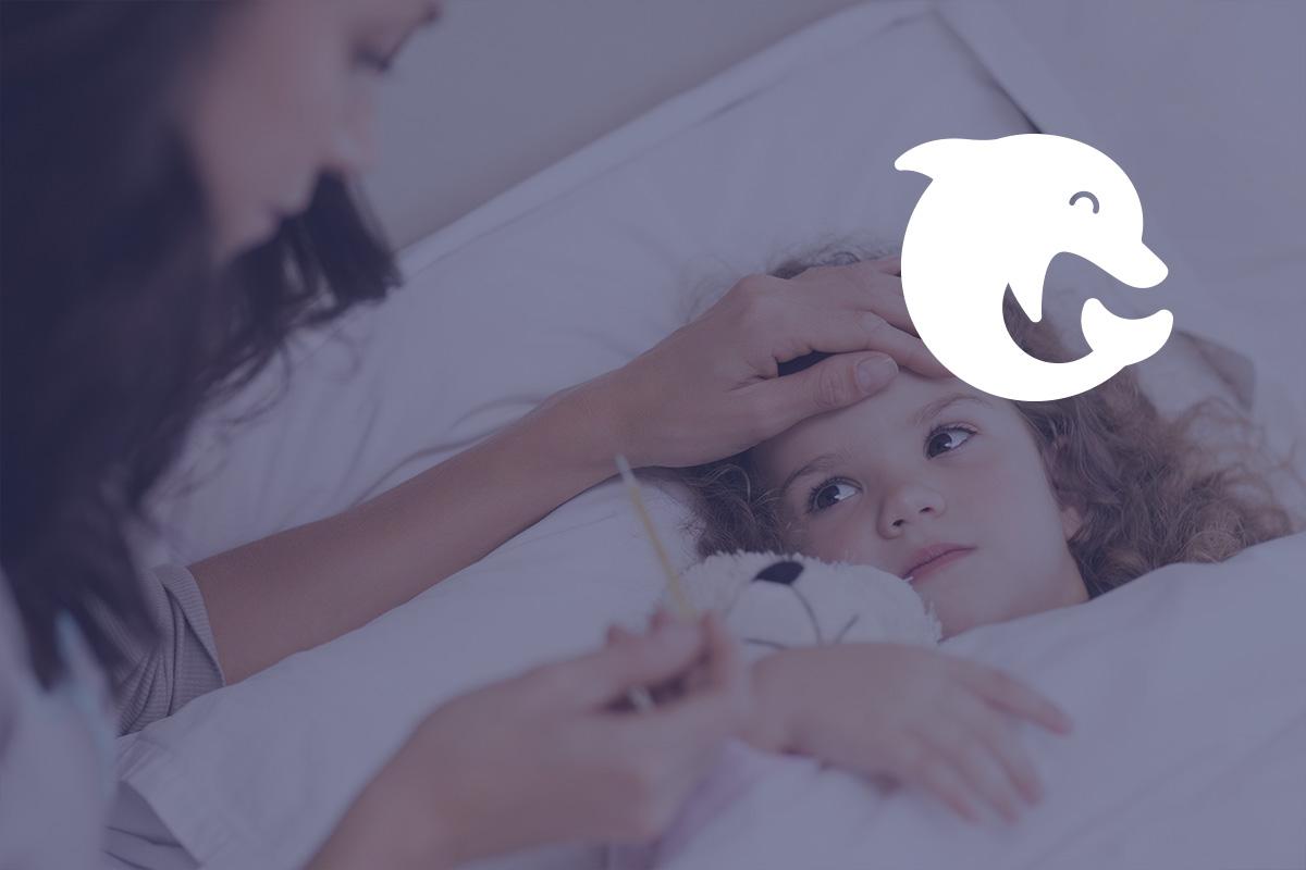 Логотип детской клиники Неболейка