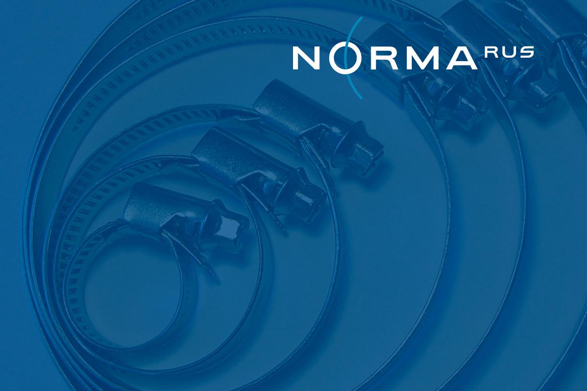 Логотип оптового поставщика хомутов Norma RUS