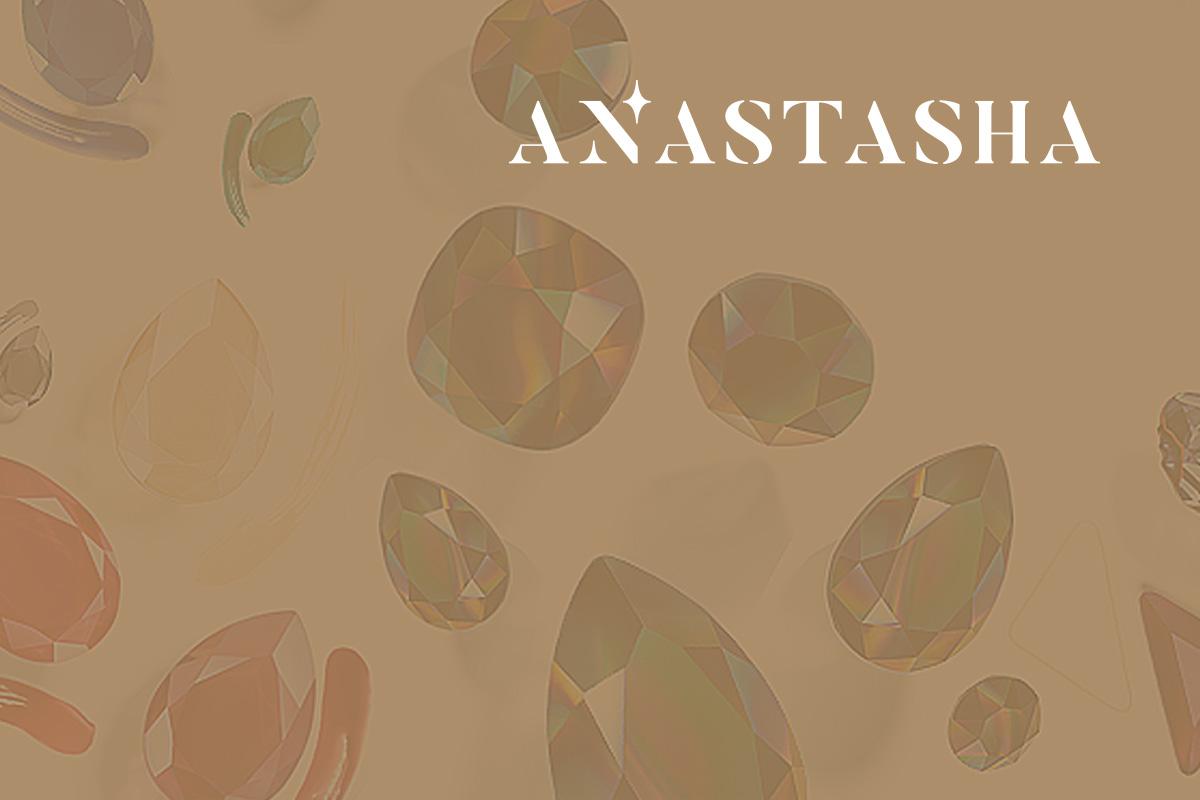 Логотип для бренда страз Anastasha